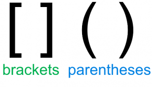 brackets and parentheses