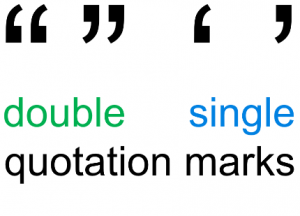 Double quotation marks and single quotation marks