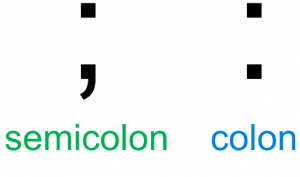 semicolon and colon