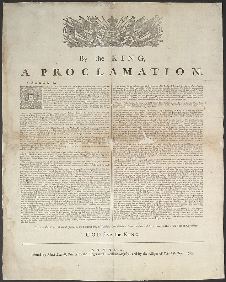 Royal Proclamation Document 1763. Photo by: Josh S. Waldorf. Credits to: Library and Archives Canada