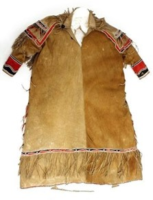 Pre-1873 child's dress from Dene Nation (Athapaskan language group). Collection of Agnes Etherington Art Centre at Queen's University