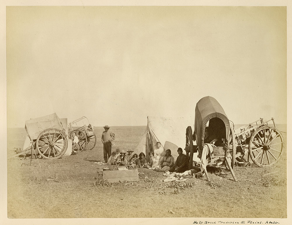 Metis Traders on the Plains 1872-1873. Credits to: Library and Archives Canada