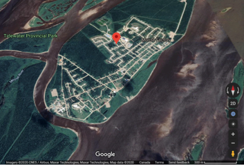 Moose Factory Island Satellite Image. Credits to: Google Maps, 2020