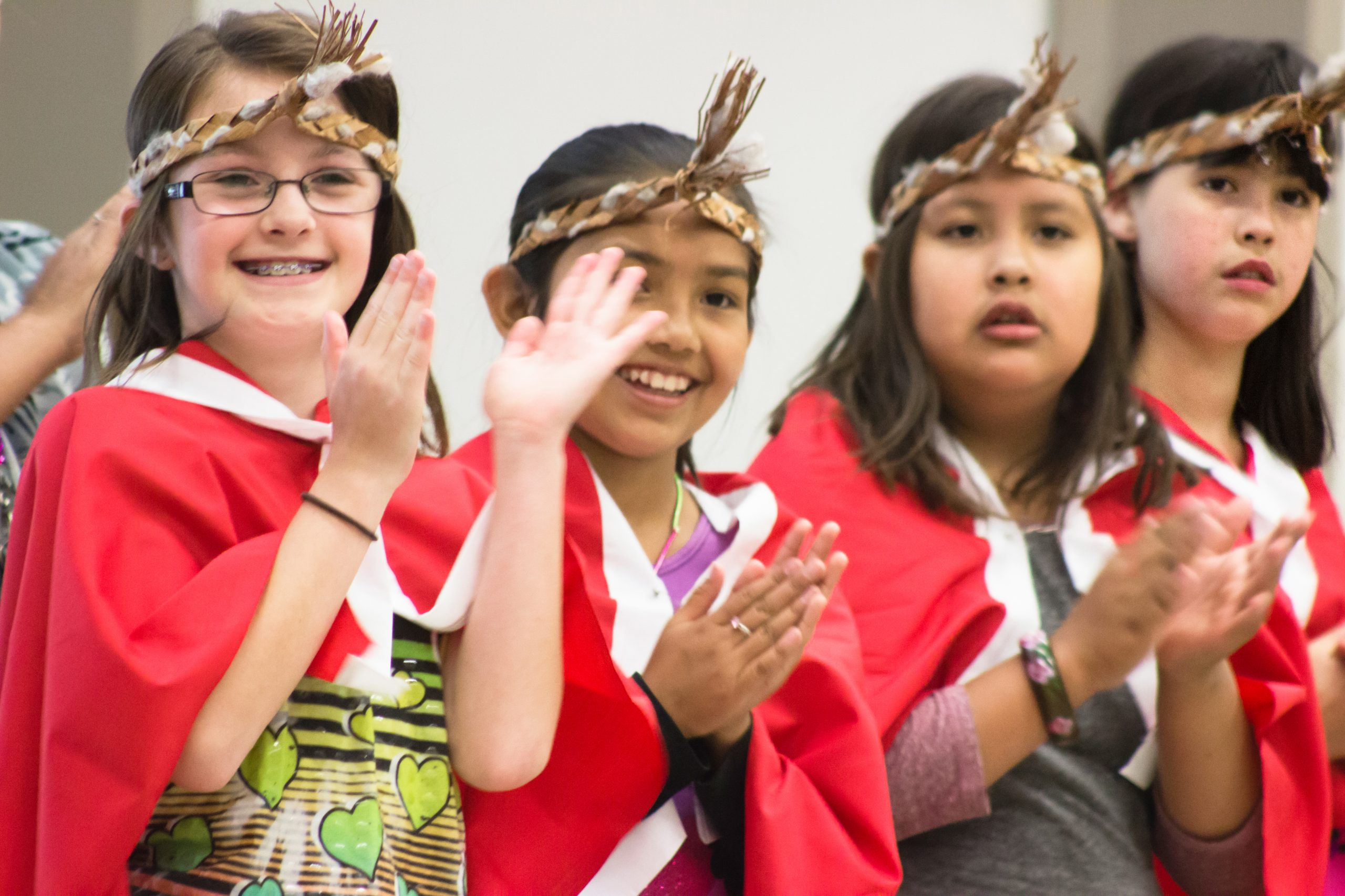 Students from Sema:th First Nation, Stó:lō First Nation and local Métis communities celebrating National Aboriginal Day 2015 after class. Credits to: province of BC