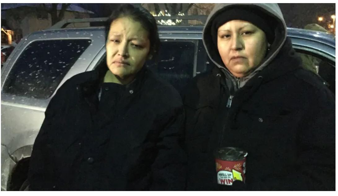 """Barbara Kentner, above (left), died July 4, 2017 after been hit in the kidneys by a trailer hitch thrown from a passing car in Thunder Bay, Ontario. The perpetrator, now charged with 2nd degree murder, called out, """"O I got one."""" Credits to: Jody Porter / CBC News."""