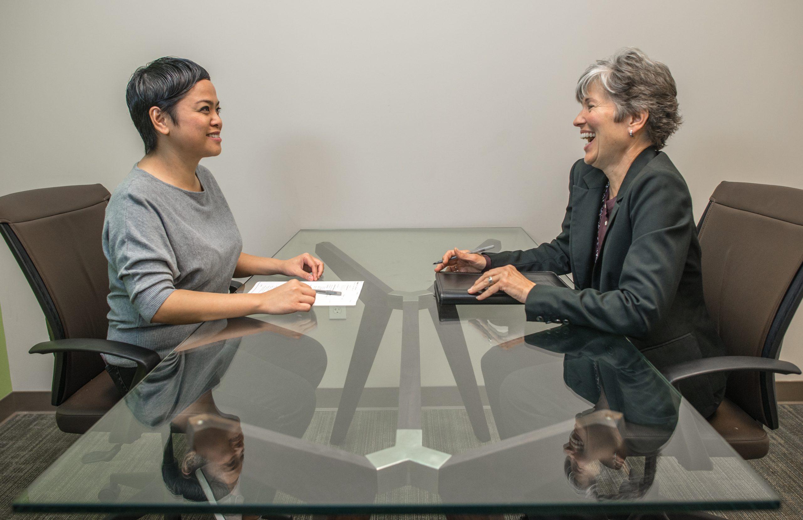 Interview process. Photo by: Stefanie Cassidy. Credits to: www.amtec.us.com