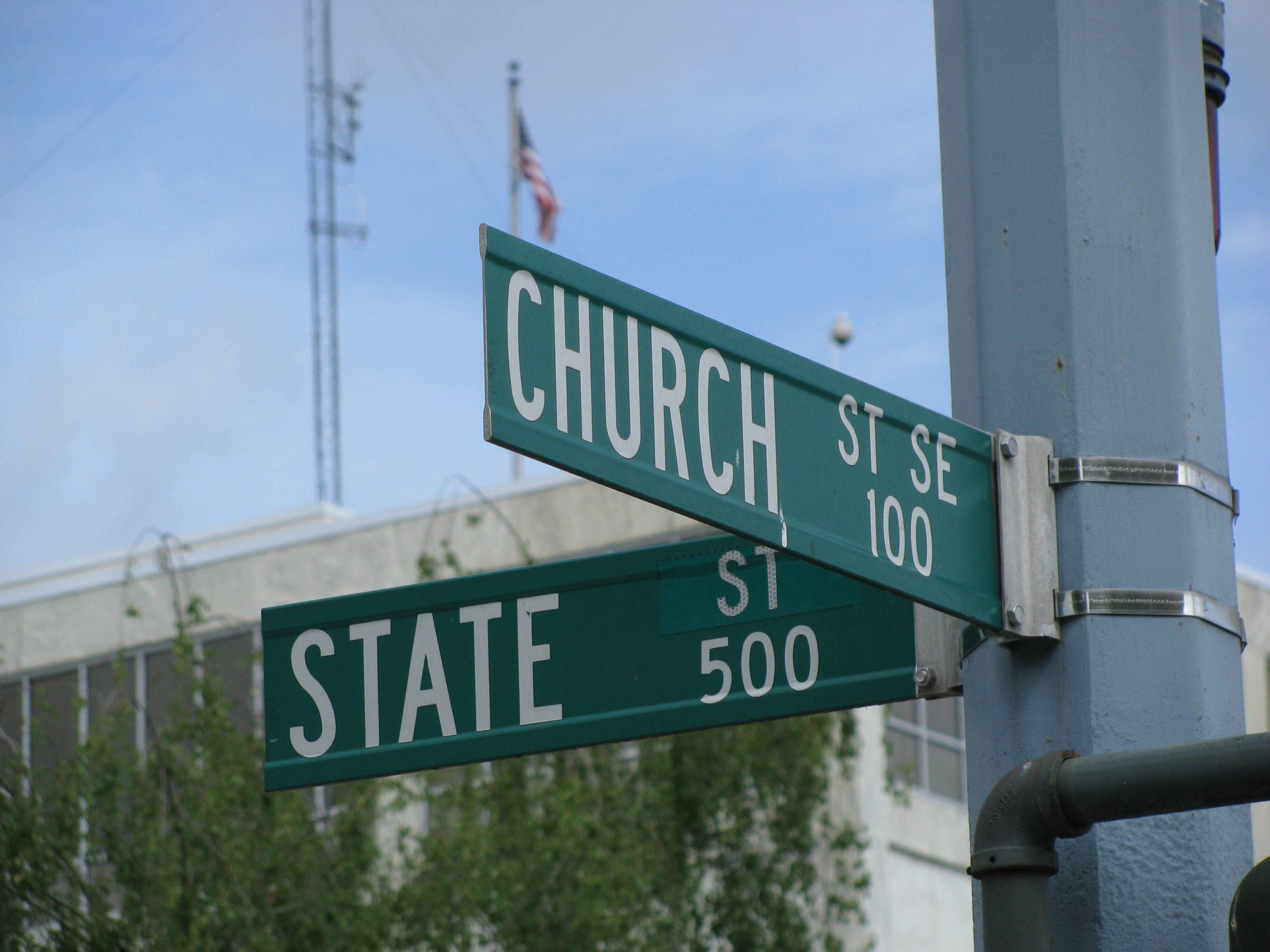 Intersection of Church and State St. – a symbolic separation of paths. Photo credits to: Rachel Patterson (CC BY-NC-SA 2.0) [129]