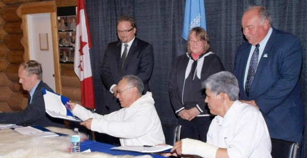 IRC, Government of Canada and Government of Northwest Territories signed a Self-Government Agreement-in-Principle, 2015. Credits to: Inuvialuit Regional Corporation [116]