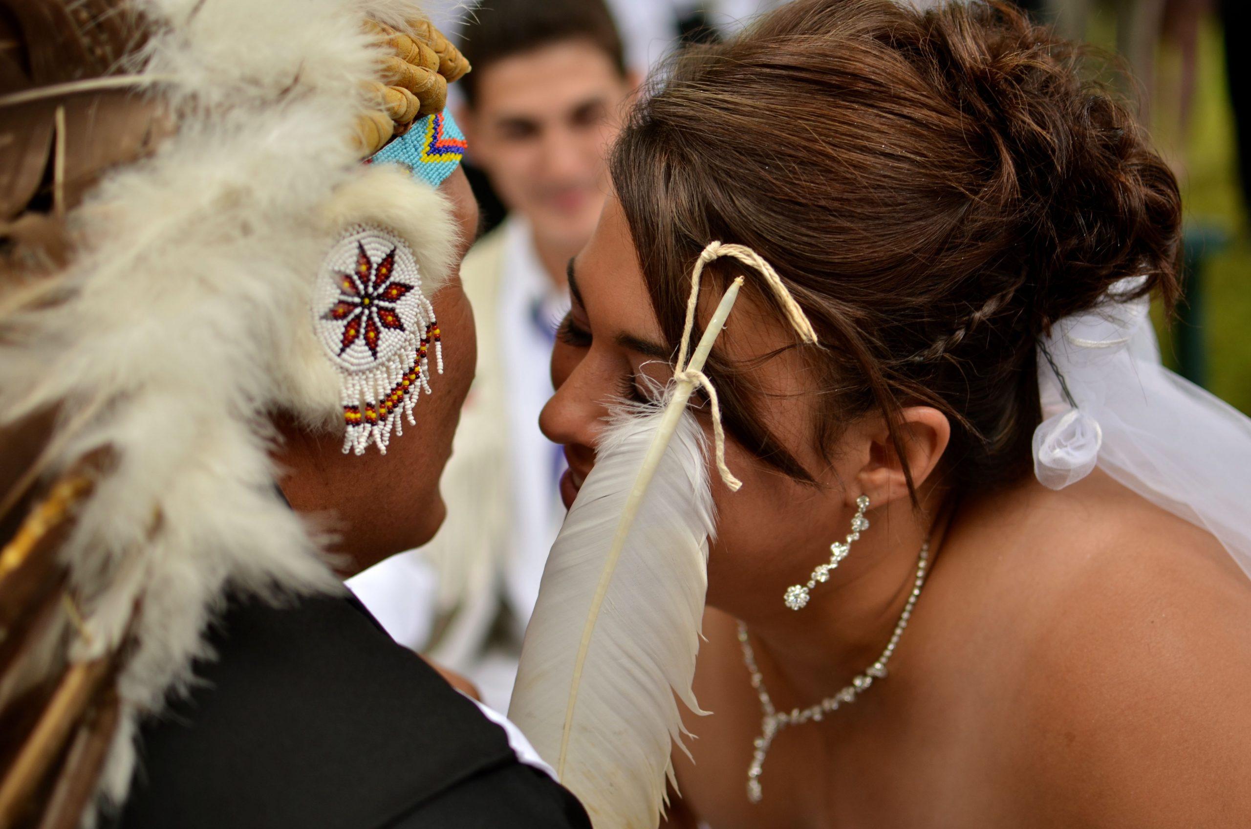 L'nu Mi'kmaw wedding in Miawpukek First Nation held by Chief Joe. Photo by: John Jeddore