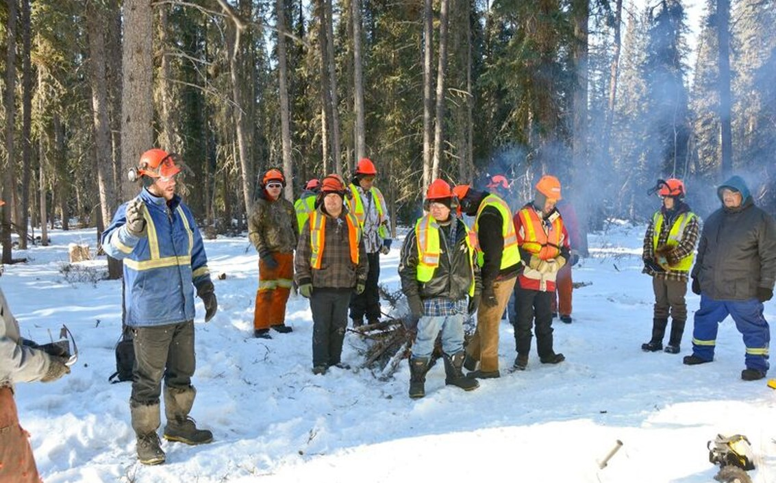 In 2018 an Indigenous Forestry Initiative team worked with members of the Teslin Tlingit Council in Yukon on a wood biomass energy initiative to reduce their community's dependence on diesel fuel. Photo & Text Credits to: NRCan, Government of Canada. (Access 90 Open) [163]