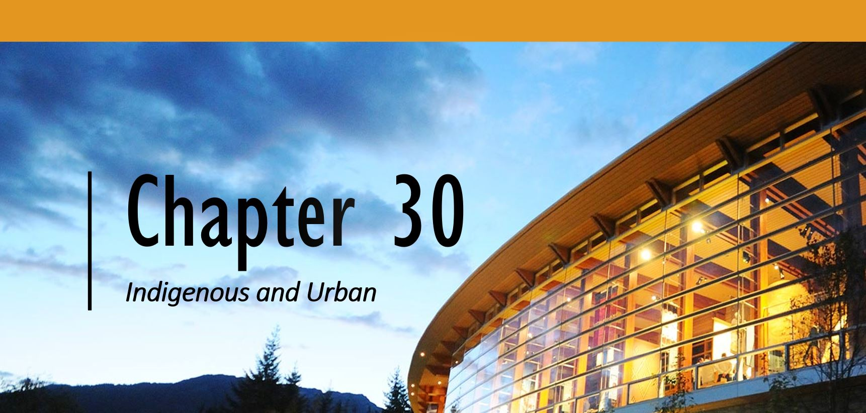 Chapter 30: Indigenous and Urban