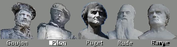 Goujon, Pilon, Puget, Rude, Barye