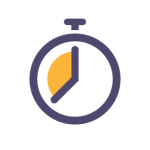 icon showing a stopwatch
