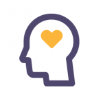 icon showing a heart inside a person's head
