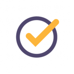 icon of a checkmark in a circle