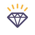 icon of a diamond representing scarcity