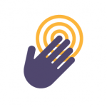 icon of a hand touching a target