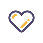icon of a heart indicated liking