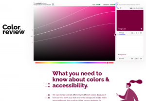 Color review website with McMaster's maroon on white.