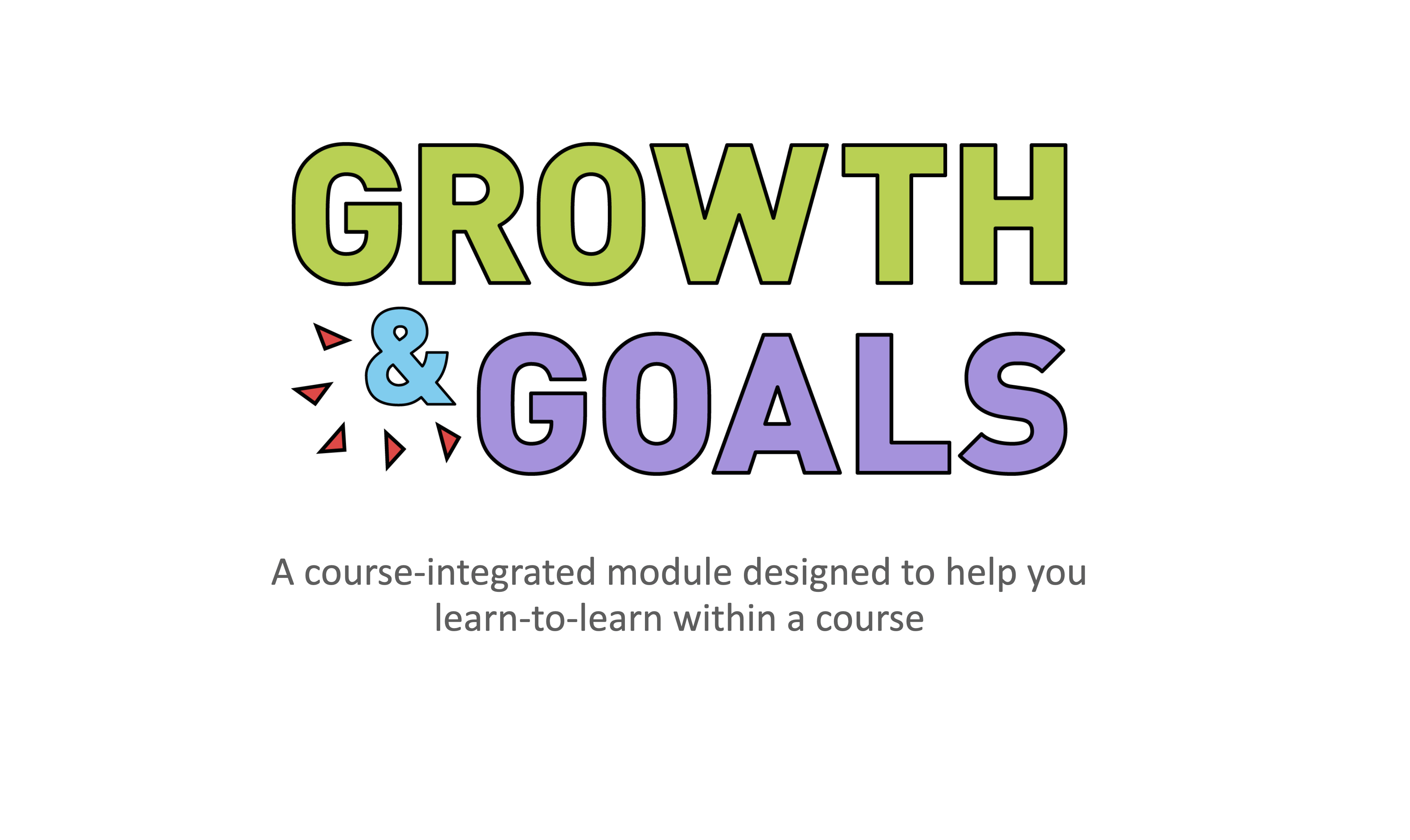 Cover image for Growth & Goals: a course-integrated module to better equip students with learning skills