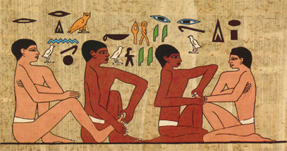 A wall painting found in the tomb of the highest official after the Pharaoh - Ankhmahor