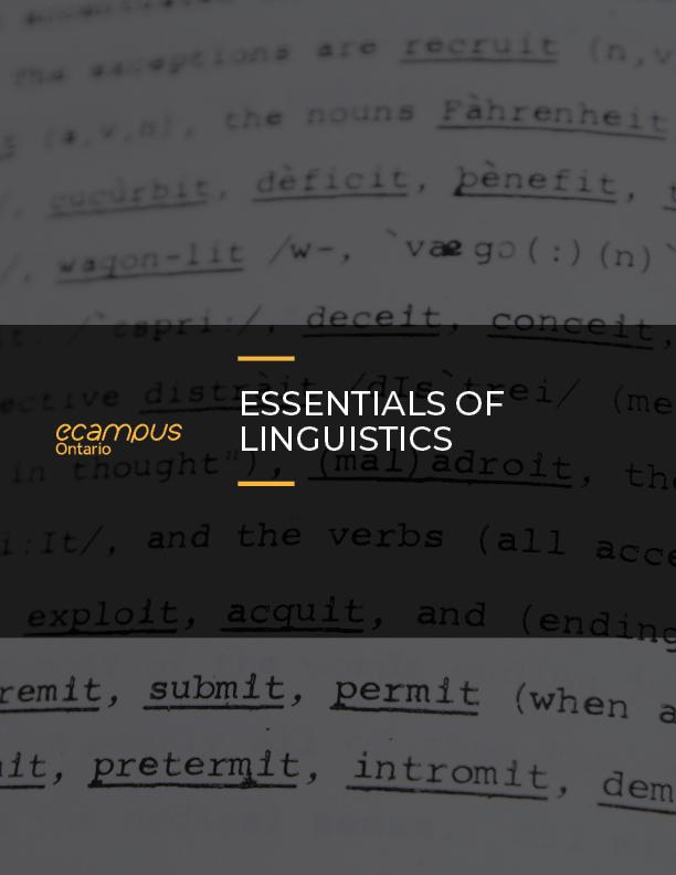 Cover image for Essentials of Linguistics