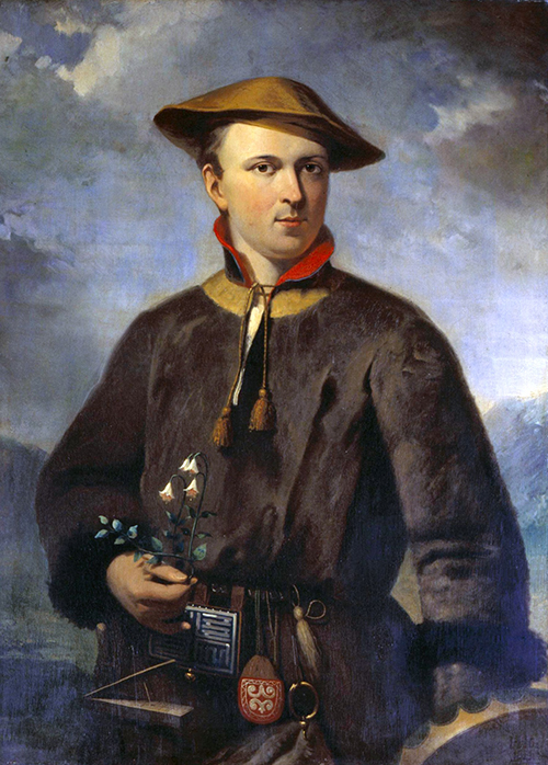 A painting of Carolus Linnaeus, the father of taxonomy.
