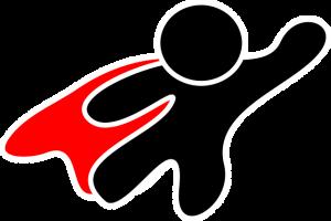 Icon of person in a red cape.