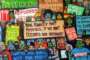Humanity Wall. Equity street art.
