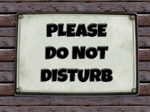 Sign with the words Do Not Disturb!
