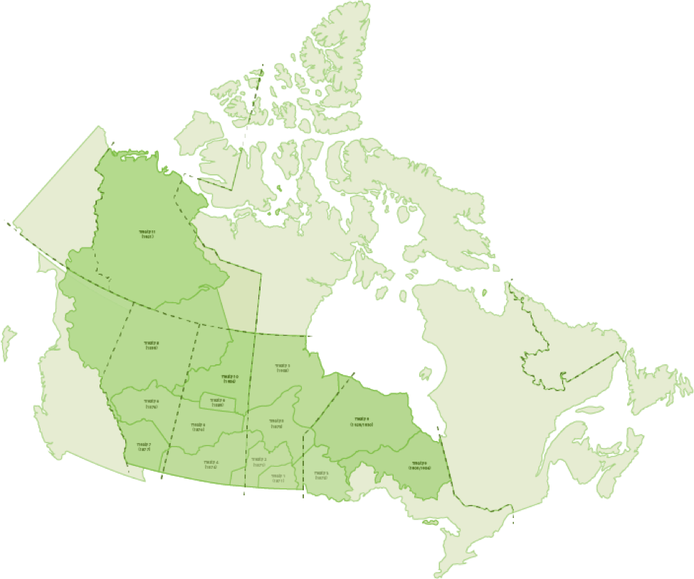 Map Of Canada Government Of Canada.Numbered Treaties Our Stories