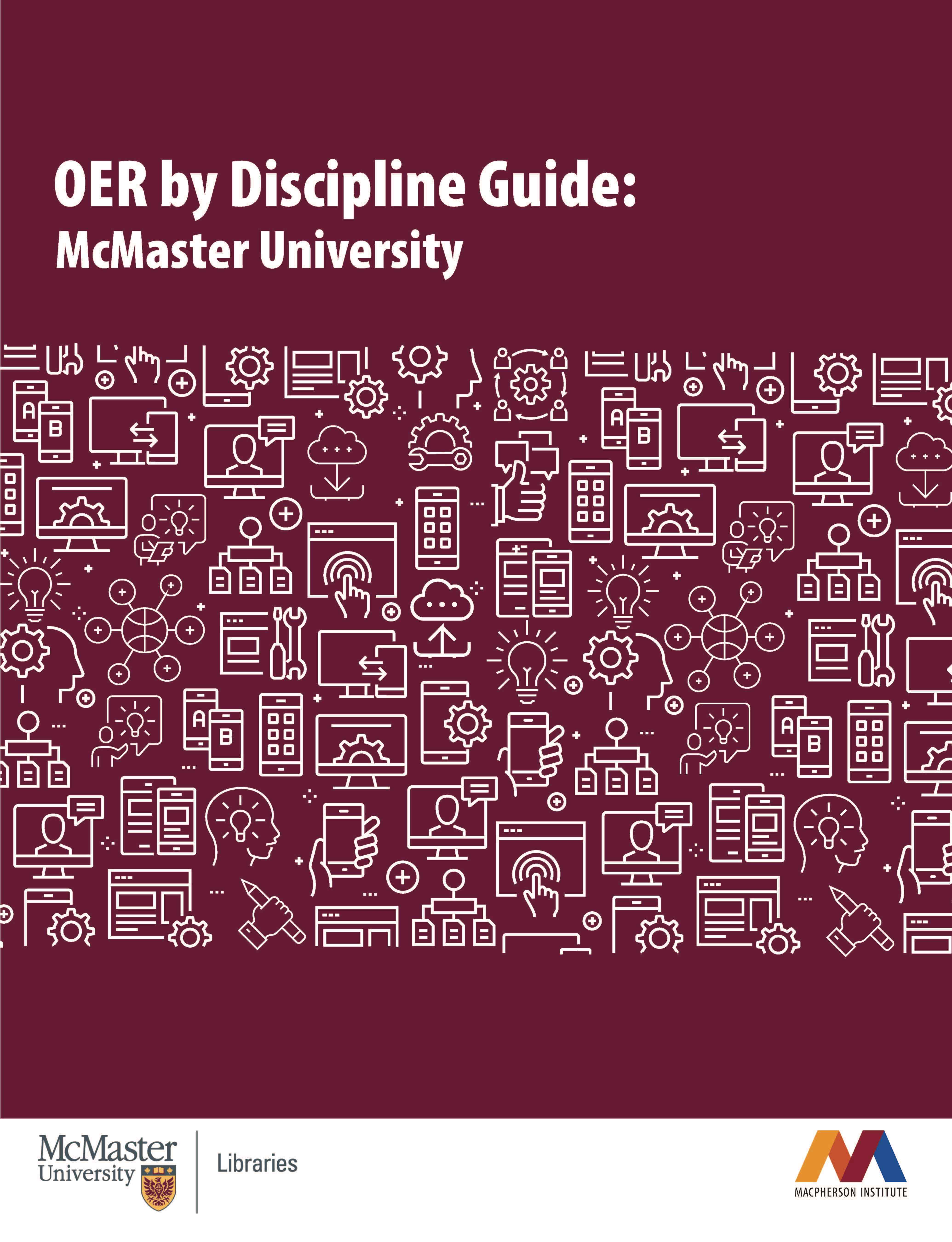 Cover image for OER by Discipline Guide: McMaster University