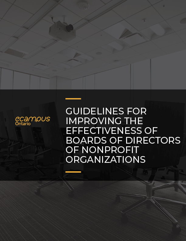 Guidelines For Improving The Effectiveness Of Boards Of Directors Of Nonprofit Organizations Simple Book Publishing