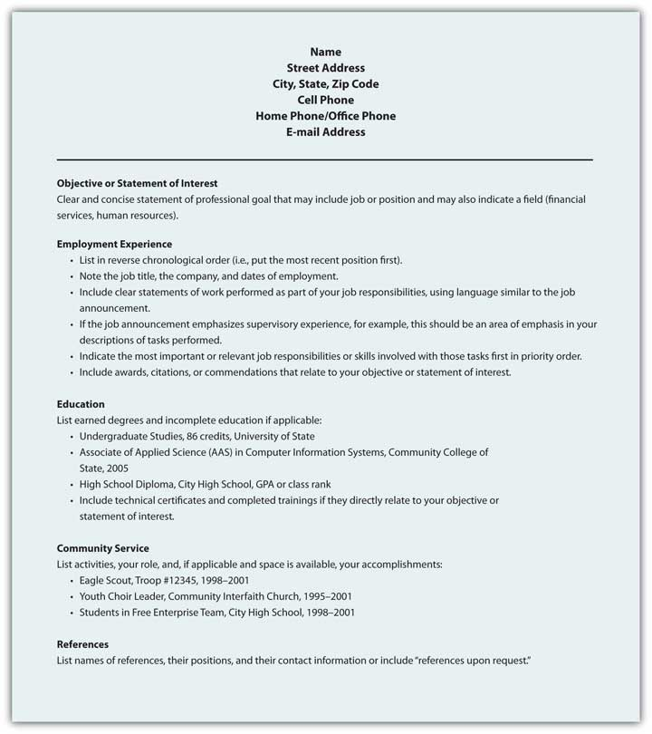 4 9 Resumes Introduction To Professional Communications