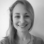 Black and white photo of Josie Gray