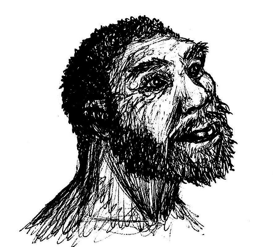 sketch of Homo heidelbergensis