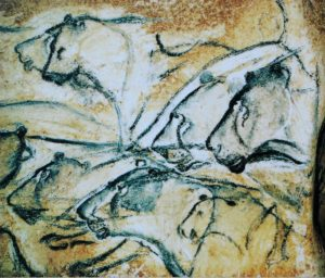 Lions cave painting