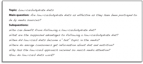 """Topic: Low-carbohydrate diets. Main question: Are low-carbohydrate diets as effective as they have been portrayed to be by media sources? Subquestions: Who can benefit from following a low-carboyhydrate diet? What are the supposed advantages to following a low-carbohydrate diet? When did low-carb diets a """"hot"""" topic in the media? Where do average consumers get information about diet and nutrition? Why has the low-carb approach received so much media attention? How do low-car diets work?"""