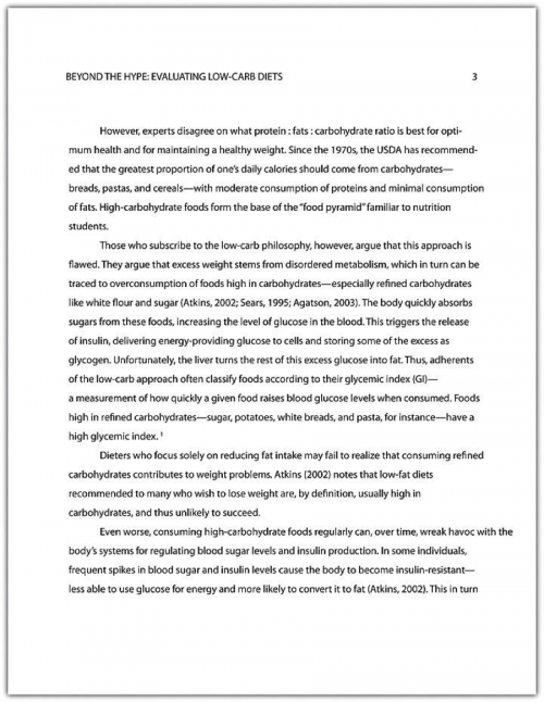 Example of a final draft paper, properly formatted and ready to present.