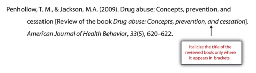 Penhollow, T.M, and Jackson, M.A. (2009). Drug abuse: Concepts, prevention, and cessation [Review of the book Drug abuse: Concepts, prevention, and cessation]. American Journal of Health Behavior, 33 (5), 620-622.