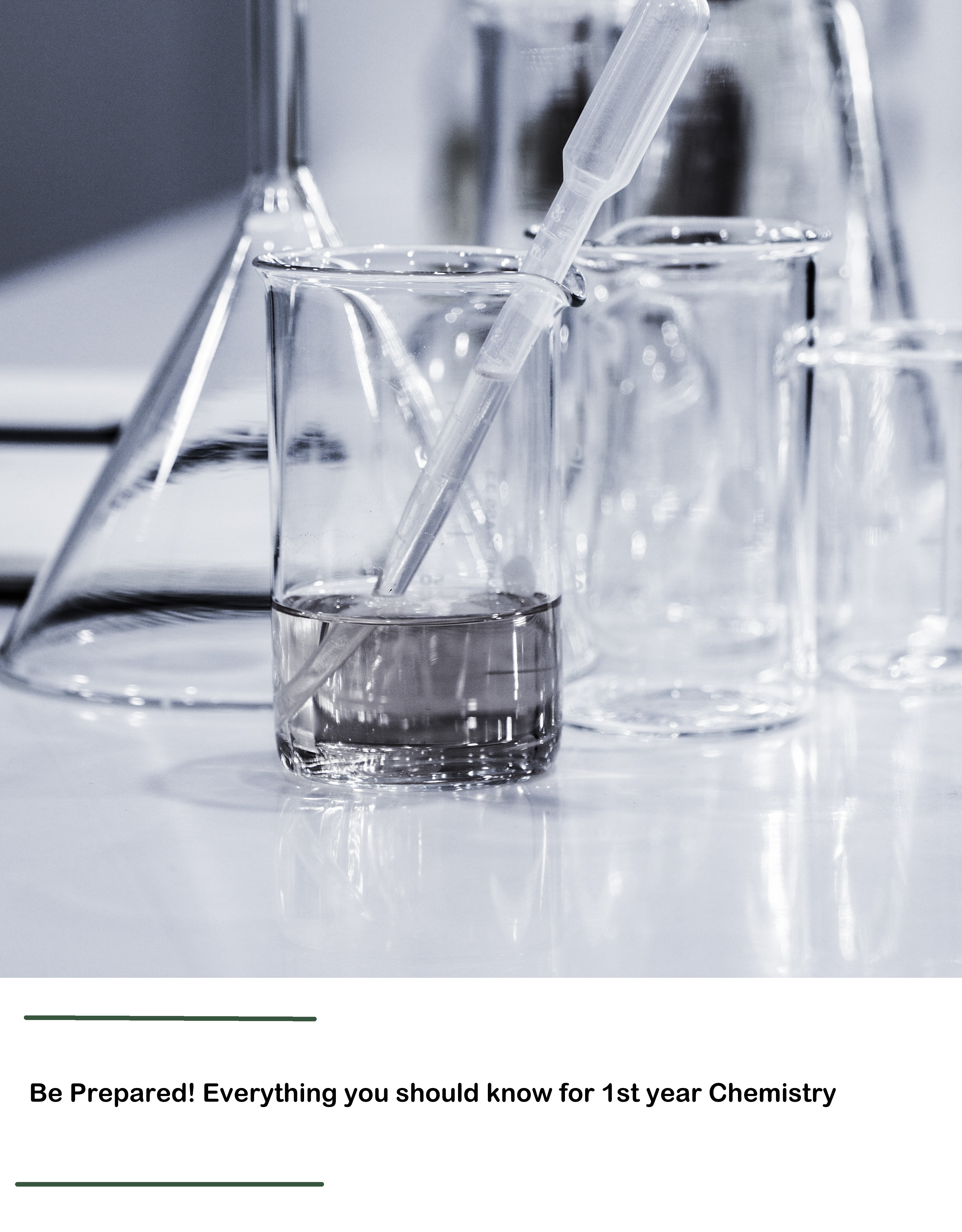 Cover image for Be Prepared! Everything you should know for 1st year Chemistry
