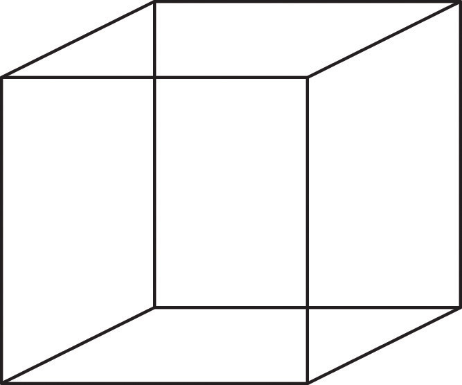 graphic of wire frame cube