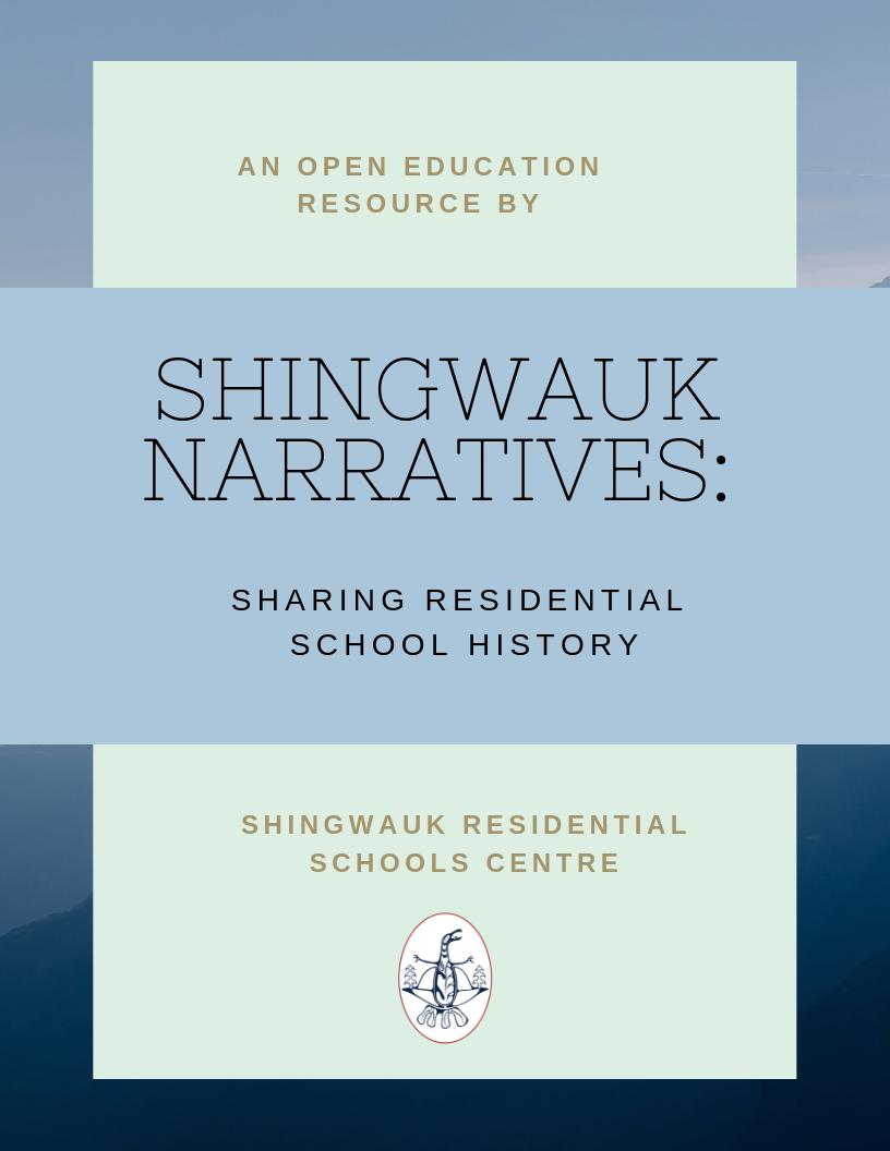 Cover image for Shingwauk Narratives: Sharing Residential School History