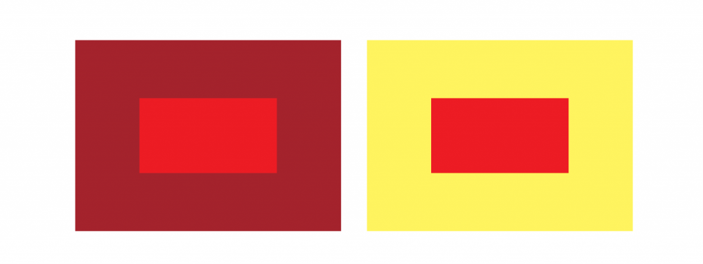 Both reds are the same colour
