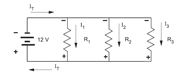 basic circuit diagram polarity in a parallel circuit     multimeters 101 basic operation  polarity in a parallel circuit