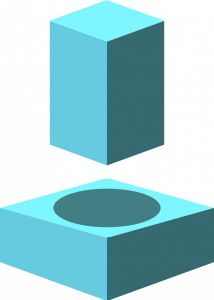 Mismatch: A rectangle block trying to fit into a space shaped like a circle