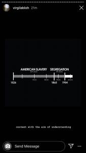Chart Illustrating Years of American Slavery vs Segregation