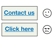 Contact us hyperlink vs. click here