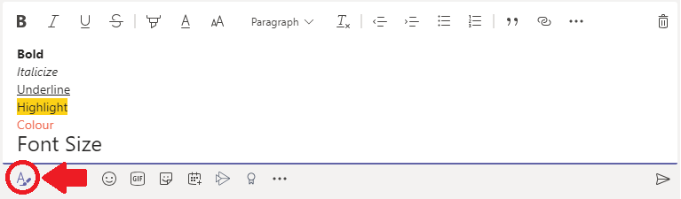 """An image identifying the location of the """"Format"""" button found when writing a post."""