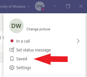 """An image displaying the location of the """"Saved"""" menu, through the user profile, used to access previously saved content."""